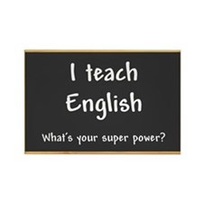 I teach English Rectangle Magnet