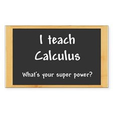 I teach Calculus Decal