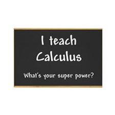 I teach Calculus Rectangle Magnet (10 pack)