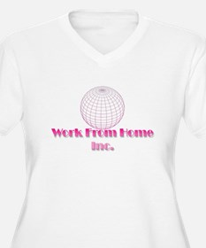 Work from Home Logo part deux Plus Size T-Shirt