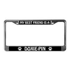 My Best Friend is a Doxie-Pin License Plate Frame