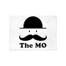 Moustache graphic print 5'x7'Area Rug