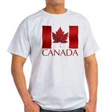 Canada Flag T-shirt Maple Leaf Art Souvenir
