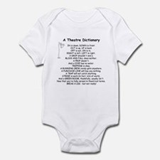 Theatre Dictionary Infant Bodysuit