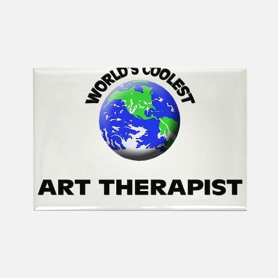 World's Coolest Art Therapist Rectangle Magnet