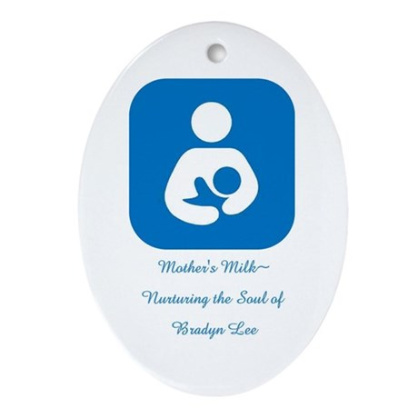 Mother's Milk~Nurturing the Soul Oval Ornament