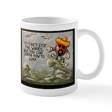 """"""" Taco Man Hanging 10 """" / Sculpted Art Mug"""