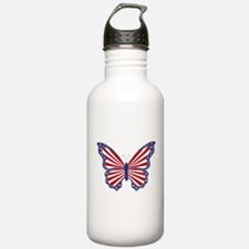 Patriotic Butterfly Water Bottle