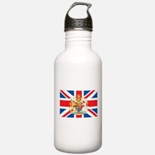 British Flag with Royal Crest Water Bottle