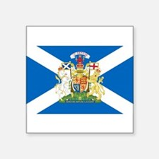 Scottish Flag with Royal Crest Sticker
