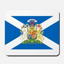 Scottish Flag with Royal Crest Mousepad