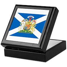 Scottish Flag with Royal Crest Keepsake Box