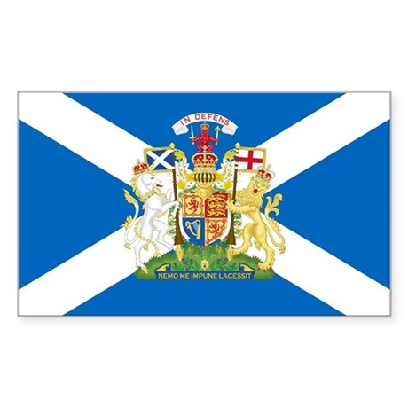 Scottish Flag with Royal Crest Sticker