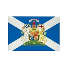 Scottish Flag with Royal Crest Rectangle Magnet
