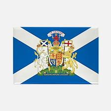 Scottish Flag with Royal Crest Rectangle Magnet