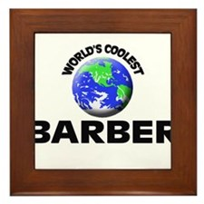 World's Coolest Barber Framed Tile