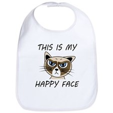This Is My Happy Face Bib