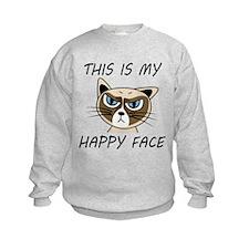 This Is My Happy Face Sweatshirt