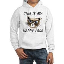 This Is My Happy Face Hoodie