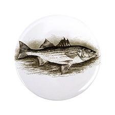 "Striped Bass Logo (vintage) 3.5"" Button"