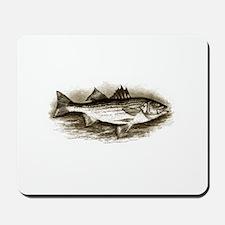 Striped Bass Logo (vintage) Mousepad