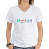 Summer Womens V-Neck T-shirts