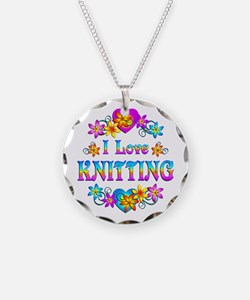 I Love Knitting Necklace