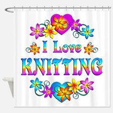 I Love Knitting Shower Curtain
