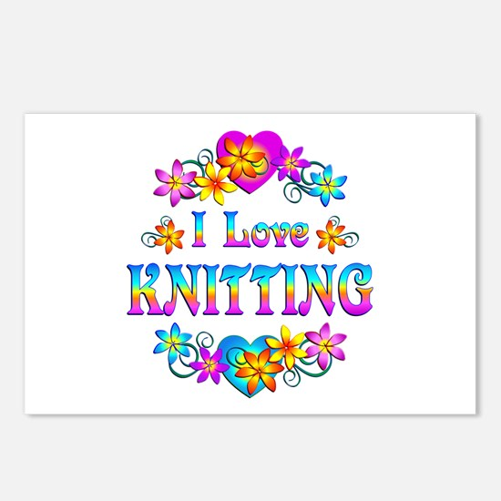 I Love Knitting Postcards (Package of 8)