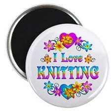 "I Love Knitting 2.25"" Magnet (100 pack)"