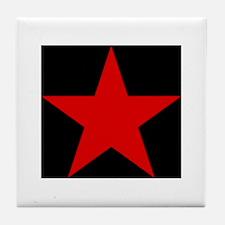 Red Pentagram Tile Coaster