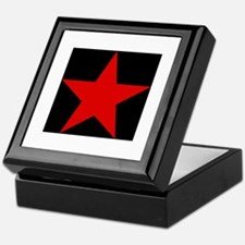 Red Pentagram Keepsake Box