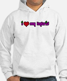 """""""I HEART MY HYBRID"""" Products Hoodie"""