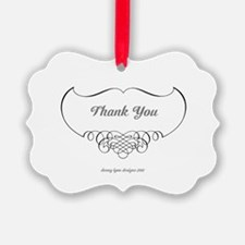 Calligraphy Wings Thank You Ornament