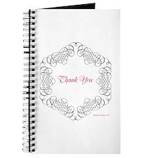 Flourish Pink Thank You Journal