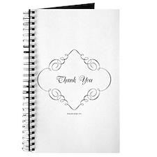 Elegant Scroll Thank You Journal