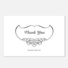 Calligraphy Wings Thank You Postcards (Pack of 8)