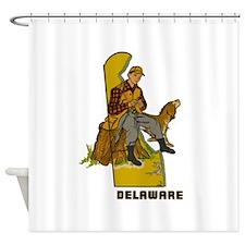 Vintage Delaware Hunter Shower Curtain