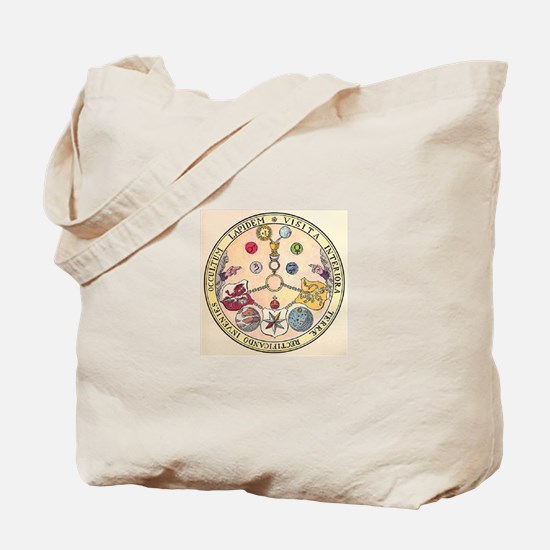 Rosicrucian Rose Tote Bag