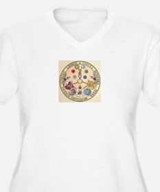 Rosicrucian Rose Plus Size T-Shirt