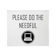 Please do the Needful - Modern Throw Blanket