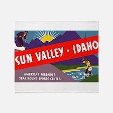 Sun Valley Idaho Throw Blanket