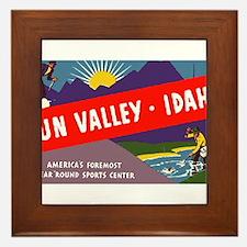 Sun Valley Idaho Framed Tile