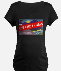 Sun Valley Idaho Maternity T-Shirt