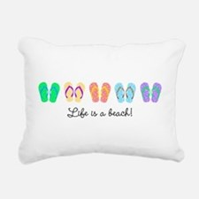 Personalize It, Flip Flop Rectangular Canvas Pillo