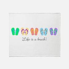 Personalize It, Flip Flop Throw Blanket