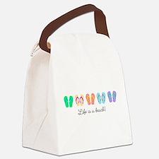 Personalize It, Flip Flop Canvas Lunch Bag