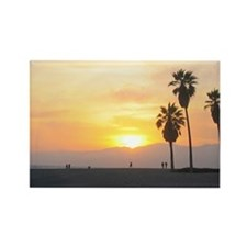 Venice Beach Boardwalk and Palms at Sunset Rectang