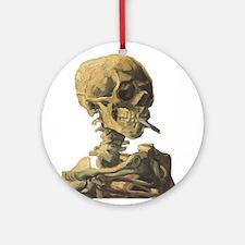 Smoking Skeleton Ornament (Round)