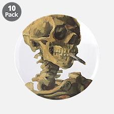"""Smoking Skeleton 3.5"""" Button (10 pack)"""